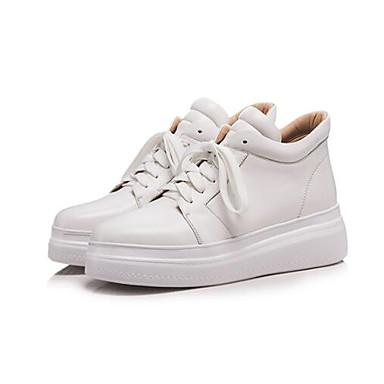 Femme Blanc Nappa Creepers Printemps Bout 06848197 Basket fermé Noir Eté Confort Chaussures Cuir rE4qp0rnv