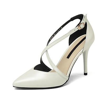Talons Chaussures Nappa Eté Confort Aiguille Noir 06856192 Talon à Cuir Blanc Chaussures Femme 1BTqnO0w