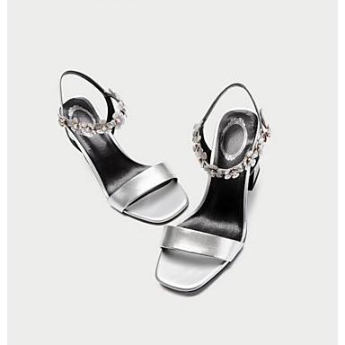 Eté Noir Nappa Confort Chaussures Rose 06848408 Bottier Femme Argent Cuir Talon Sandales q8f6ntnU