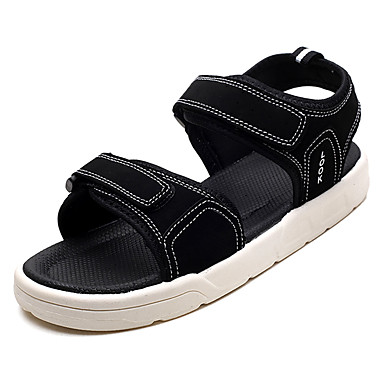 Men's PU(Polyurethane) / Summer Light Soles Sandals Black / Gray / PU(Polyurethane) Black / White 2f83b1