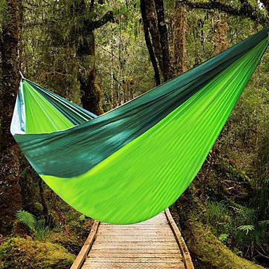 Camping-hængekøje Udendørs Fugtsikker, Godt Ventileret, Ultra Lys (UL) Nylon for Jagt / Vandring / Fiskeri - 2 personer Grøn / Gul /