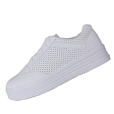 Amichevole Per Donna Pu (poliuretano) Autunno Comoda Sneakers Footing Piatto Punta Tonda Bianco - Rosa - Tessuto Almond #06863908 Servizio Durevole