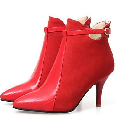 Boucle Femme Talon Mariage Rouge amp; Bout hiver Bottine Botte Aiguille 06855861 Botillons Chaussures Noir Bottes Véronèse Evénement pointu Automne Vert Demi Polyuréthane Soirée OrOqA