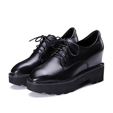 06849326 Creepers Bout Chaussures Printemps Confort Oxfords Femme Noir Cuir Eté Bourgogne Nappa fermé 70qww6S