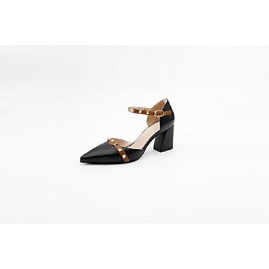 Noir Printemps Talon à Bottier Femme Talons été Amande 06848594 Chaussures Cuir Confort Chaussures Nappa UzqPwta