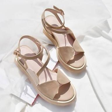 Rose Plat Amande 06856166 Sandales Chaussures Eté Femme Noir Confort Talon Daim 1BHPpWxq8w