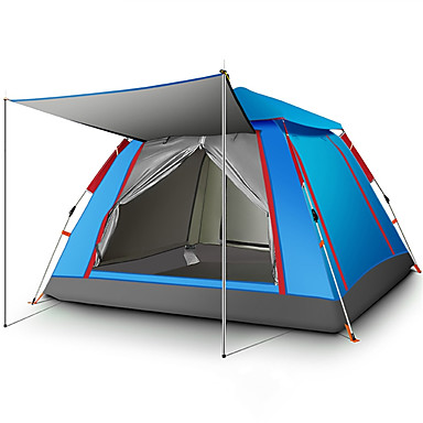 43d76376ec1d TANXIANZHE® 4 person Automatic Tent Outdoor Lightweight Windproof UV  Resistant Single Layered Automatic Camping Tent 2000-3000 mm for Fishing  Beach Camping ...