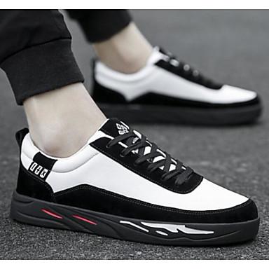Moderne :Homme Chaussures de confort Polyuréthane Printemps ; Automne Automne Automne Décontracté Basket Noir / Gris / Kaki cd9015