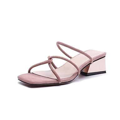 Daim Bottier Talon Confort été Printemps Noir 06848099 Rose Sandales Chaussures Femme 0q57U