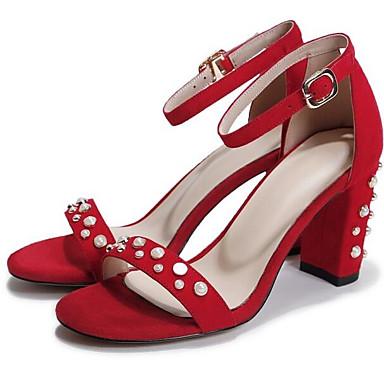 Rouge Talon Chaussures Eté Daim Bottier 06858820 Sandales Noir Confort Femme wBPT8qx