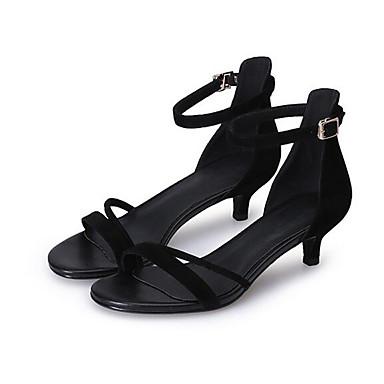 Noir Daim 06863573 Talon Sandales Eté Confort Rose Femme Bas Chaussures wPHxfK50