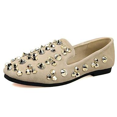 Mujer y Punta Plano Confort Zapatos 06856613 cerrada Zapatos Almendra Negro Tacón Verano de de bajo On taco Napa Primavera Slip Cuero fYnfaPqZr