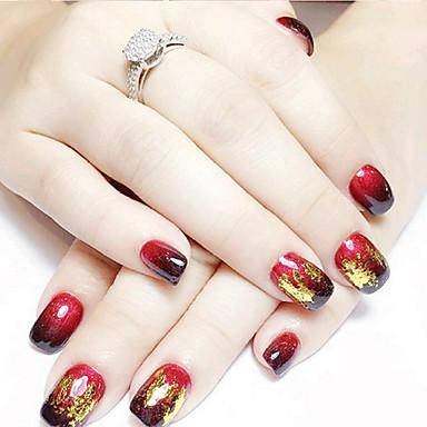 voordelige Nagelstrass & Decoraties-12 pcs Metaal Schitteren Nail Art Kit Nagelsieraden Voor vinger Nagel kunst Manicure pedicure Dagelijks Punk / Bruiloft / Modieus / Kynsien korut