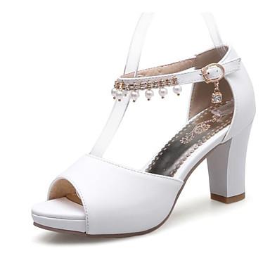 Talon Bottier Confort Escarpin Polyuréthane Sandales Eté 06843328 Rose Femme Bleu Blanc Basique Chaussures nHTx6gF