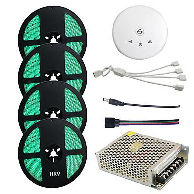 abordables Bandes Lumineuses LED-4x5M Ensemble de Luminaires / Barrette d'Eclairage RVB 300 LED 5050 SMD RVB Imperméable / Découpable / Connectible 100-240 V 4pcs
