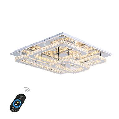 Flush Mount Ambient Light มีสี โลหะ คริสตัล, LED 110-120โวลล์ / 220-240โวลต์ วอมไวท์ / ขาว / สามารถหรี่แสงได้ด้วยรีโมทคอนโทรล รวมแหล่งกำเนิดไฟ LED / แบบมี LED