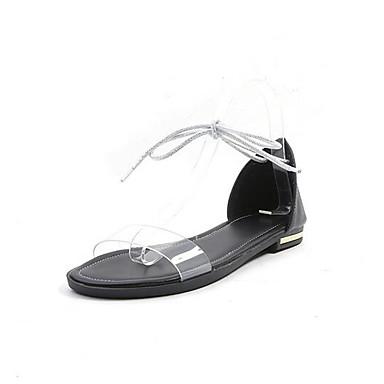 Napa Verano Confort Plano 06850254 Blanco Beige Tacón Negro Mujer Cuero Zapatos de Sandalias twqIAFg