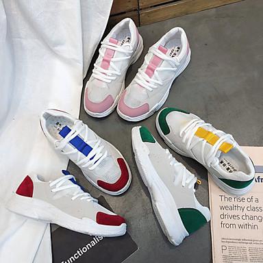 Bloques Rojo 06863774 Confort Running Zapatos redondo Verde PU de Atletismo Mujer Zapatillas Dedo Rosa Bajo Tacón Otoño HxUwZaq4