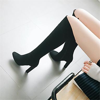 Femme Fashion Boots Matière synthétique Automne Automne Automne hiver Bottes Talon Bottier Bout pointu Bottes Noir / Gris clair / Mariage / Soirée & EvéneHommes t   Fiable Réputation  289654