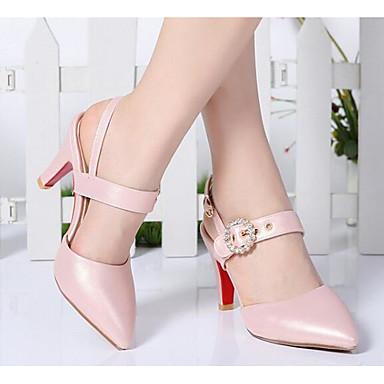 Basique 06854432 Escarpin Chaussures Polyuréthane Confort Blanc Aiguille Talon Noir Femme Printemps Sandales Rose 7wZXHqwa