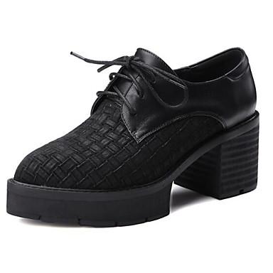 Gris Femme Bottier fermé Noir Talon 06848349 Chaussures Oxfords Printemps Nappa Eté Confort Bout Cuir SFqS74