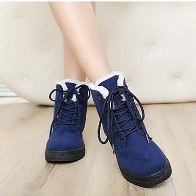 Botas Fiesta Hasta el Botines Azul de Noche Mujer y redondo Zapatos Otoño 06856870 Plano Dedo Tacón Tobillo Rojo Botas Ante Caqui nieve awnqYU7O