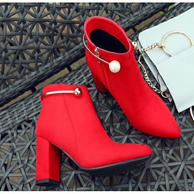 Daim Automne Rouge Bottier la Bottine Femme Mode Botte Bottes à Confort 06843342 Noir Demi Bottes Chaussures hiver Talon SHwqEqxU5