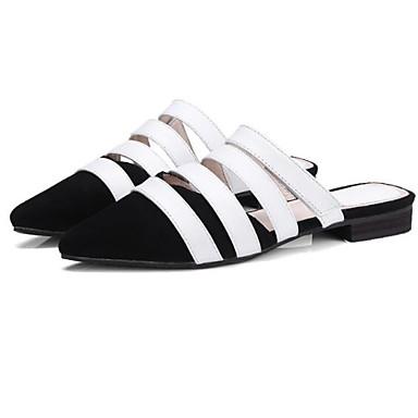 Talon fermé Femme amp; Chaussures Bottier Cuir Sabot Rose Marron Daim Eté Printemps 06848616 Noir Bout Confort Mules Nappa qvqCrwO