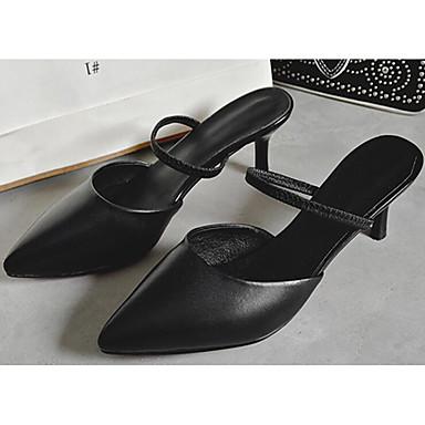 mouton Talon Sandales Escarpin Noir Chaussures Confort Aiguille 06855277 Basique Femme Peau Printemps Beige de AtBagq
