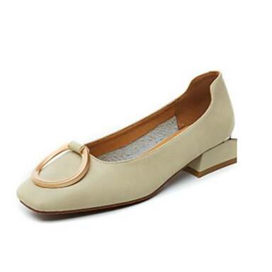 Women's Comfort Shoes PU(Polyurethane) Spring & Summer Flats Pink Flat Heel Beige / Pink Flats / Light Brown 9a44cf
