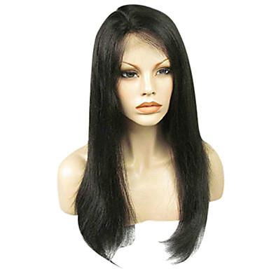 Unbehandeltes Haar Vollspitze Perücke Brasilianisches Haar Glatt Klassisch Perücke Kurz Lang Mittellang Echthaar Perücken mit Spitze / Gerade