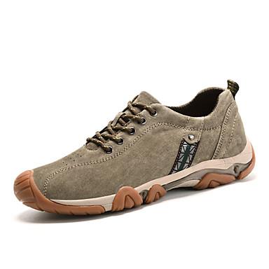Men's Comfort Shoes Pigskin Spring / Fall Athletic Shoes Hiking Khaki Shoes Dark Blue / Khaki Hiking da419d