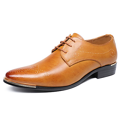 Men's Formal Shoes Faux Leather Fall & Winter Business Oxfords / Non-slipping Black / Yellow / Oxfords Party & Evening c8c0fb