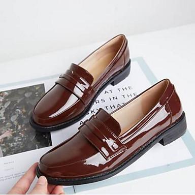 Chaussons Plat Noir Femme Nappa Cuir Mocassins fermé 06855251 Talon Bout et Eté D6148 Confort Printemps Chaussures Marron Ap4Ax8