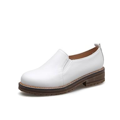 Amande Bottier D6148 06864610 Talon Confort Chaussures Femme Blanc Eté Mocassins Noir et Chaussons Polyuréthane x7zAqwR