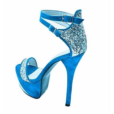 06858100 Automne Confort Femme Daim Chaussures Bleu Aiguille Sandales Talon HUEx18wEq