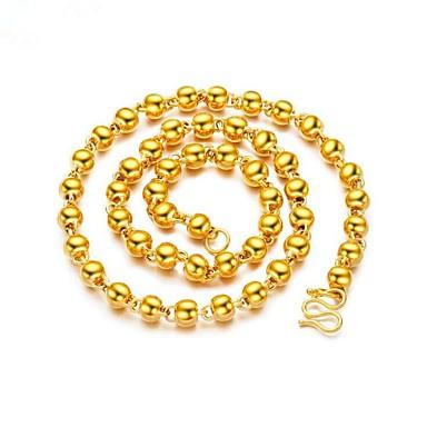 6c018c7e55de Hombre Elegante Collar Chapado en oro 18K Creativo Moda Cool Dorado 60 cm  Gargantillas Joyas 1pc Para Regalo Diario