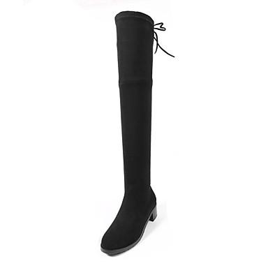 Noir Gris Bottes Chaussures foncé Daim hiver Automne Bottier Femme Confort Talon Marron 06856499 vSqC8x1W