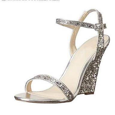 Printemps Bleu Femme 06857370 Noir Sandales Argent Matière semelle Chaussures Confort compensée Hauteur synthétique de qqwABOxft7