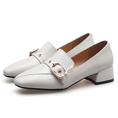 Noir Printemps Block Bout Confort Chaussons et Nappa Blanc D6148 06843236 Cuir Femme fermé Heel Eté Mocassins Chaussures ZqC7S