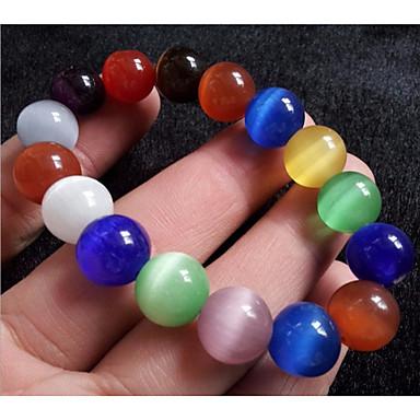 abordables Bracelet-Bracelet à Perles Bracelets Vintage Femme Classique Perles Créatif dames Elégant Asiatique Classique Ethnique énergie Bracelet Bijoux Arc-en-ciel Rond pour Quotidien Rendez-vous