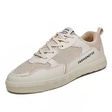 Homme Maille / Polyuréthane Automne Confort Basket Blanc Blanc Blanc / Noir / Beige   Les Produits Sont Vendu Sans Limitations  c9e89a