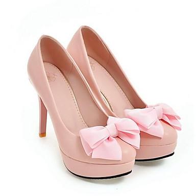 Blanco Mujer Confort Stiletto Primavera Tacones PU Negro 06861945 Rosa Zapatos Tacón x7wTqr7B0n