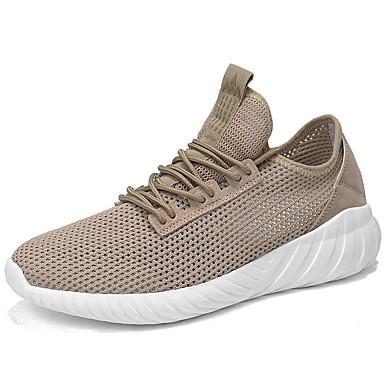 Men's Comfort Shoes Linen Summer Athletic Shoes Running / Shoes White / Black / Running Khaki 9f61e7