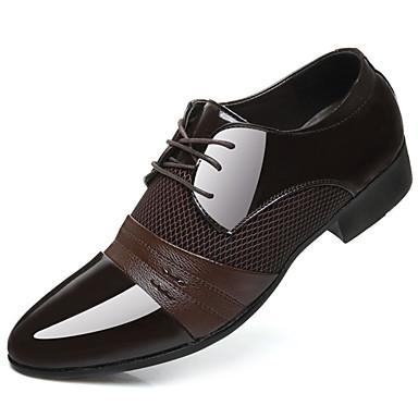 رجالي أحذية رسمية PU الربيع الأعمال التجارية أوكسفورد أسود / بني