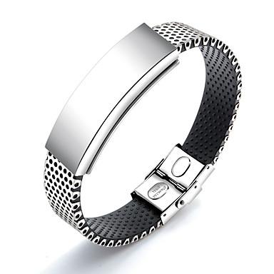 voordelige Herensieraden-Heren Armband Koreaans silica Gel Armband sieraden Wit Voor Dagelijks / Titanium Staal / Platina Verguld