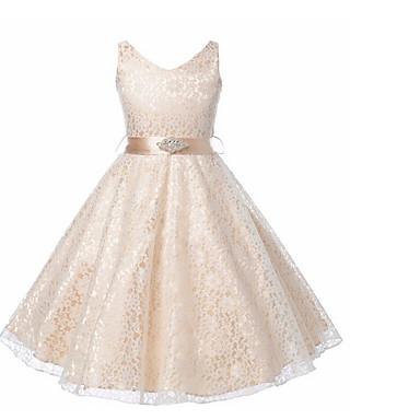 povoljno Odjeća za djevojčice-Djeca Djevojčice slatko Jednobojni Bez rukávů Haljina Navy Plava