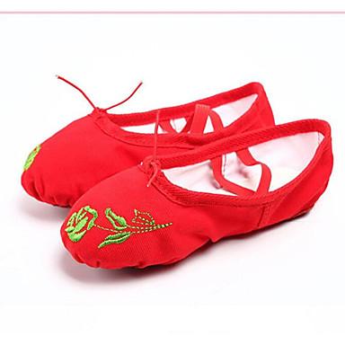Per Donna Scarpe Da Danza Classica Di Corda Sneaker Piatto Scarpe Da Ballo Nero - Rosso #06934758 Superiore (In) Qualità