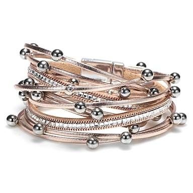 Dam Trendig Flätad Armband av Remmar Läder Armband - Läder Kreativ damer fbec712e4a4db