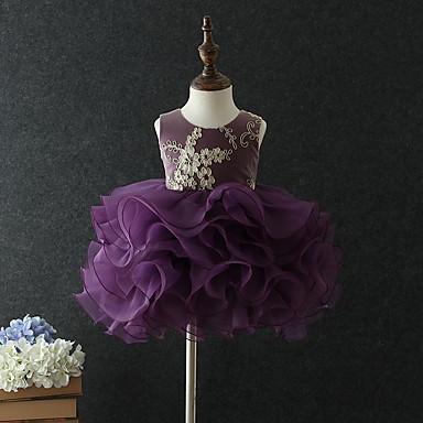 cheap Girls' Sweet Dresses-Baby Girls' Basic Floral Sleeveless Cotton Dress Navy Blue / Toddler